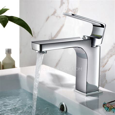 modern kitchen sink faucets modern square chrome finish bathroom sink faucets