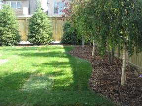 Backyard Tree Ideas Calgary Backyard With Trees K Landscapes