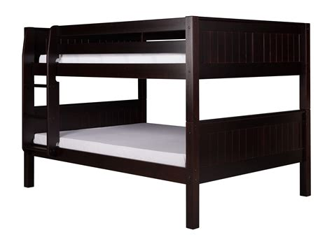 low bunk beds camaflexi full over full low bunk bed panel headboard