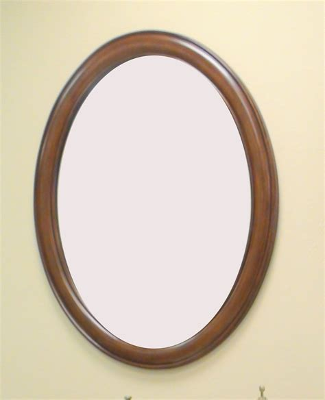 Framed Oval Bathroom Mirror by Oval Wood Framed Wall Mirrors Bathroom Mirrors And Wall