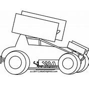 Pics Of Sprint Cars Coloring Pages Printable Car