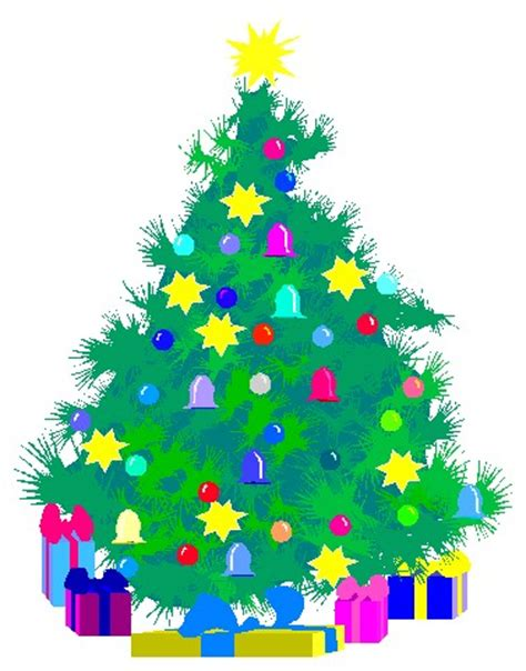 christmas tree with presents clipart cliparts co