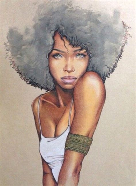 pintrest pics of african americans with natural puff hairstyles drawn girl afro pencil and in color drawn girl afro