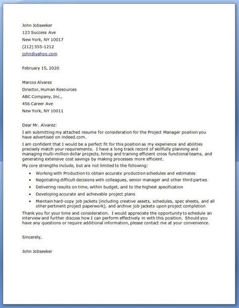 Letter Project 25 Unique Cover Letter Sle Ideas On Resume Cover Letter Exles Cover Letter