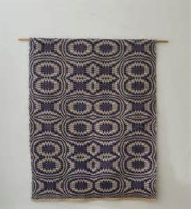 Rug For Wall by Weaving For Overshot Rug Becomes Wall Hanging