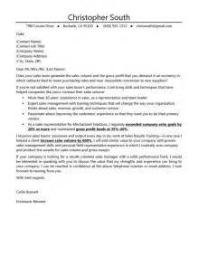 Executive Cover Letter Tips by 10 Sales Cover Letter Exles Writing Resume Sle