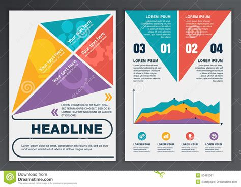 Brochure With Application by Set Of Vector Template For Brochure Flyer Poster Application Stock Vector Image 50482061