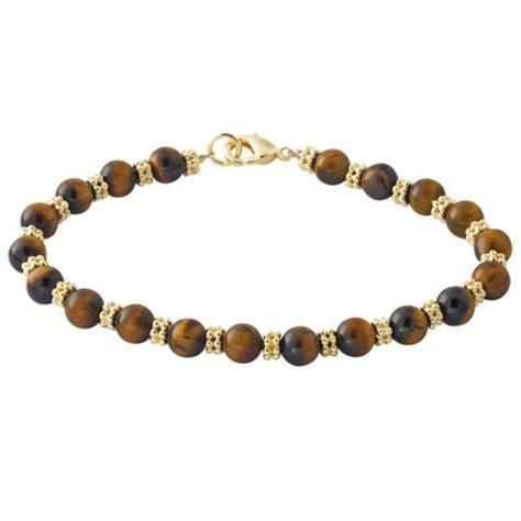 tiger eye bead bracelet gold plated genuine tiger eye beaded bracelet clothing
