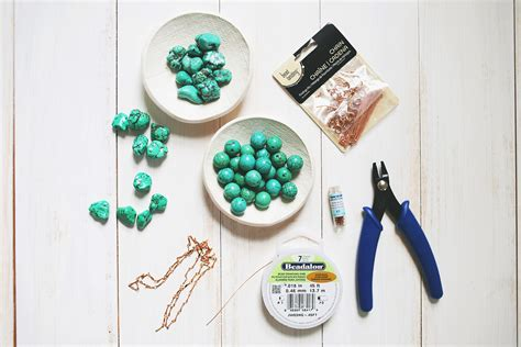 what do you need to make jewelry how to make a simple beaded necklace a beautiful mess