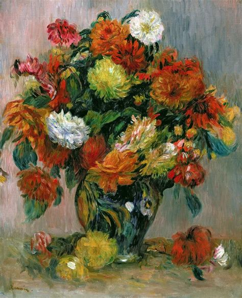 Vase Of Flowers Paintings by Vase Of Flowers By Auguste Renoir