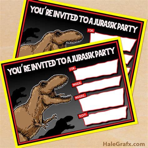 printable jurassic world birthday invitations free printable jurassic park t rex birthday invitation