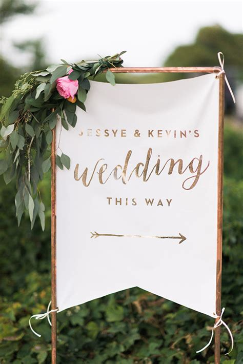 Wedding Banners At City by How To Make A Statement Gorgeous Fabric Wedding Signage