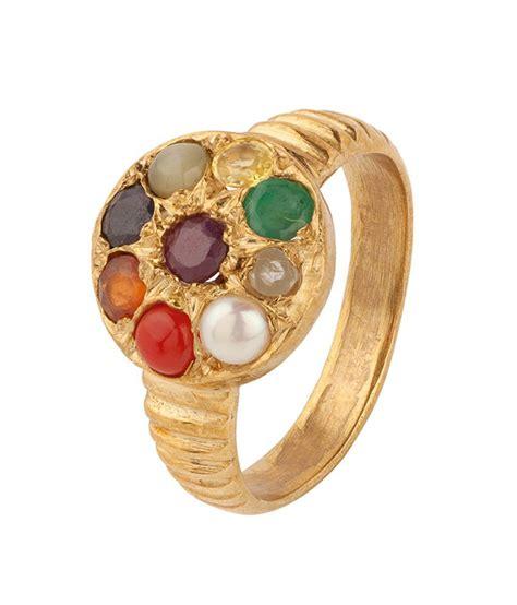 voylla gold tone navratna ring buy voylla