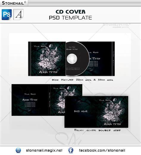 cover page template psd cd cover psd templates by stonenail on deviantart
