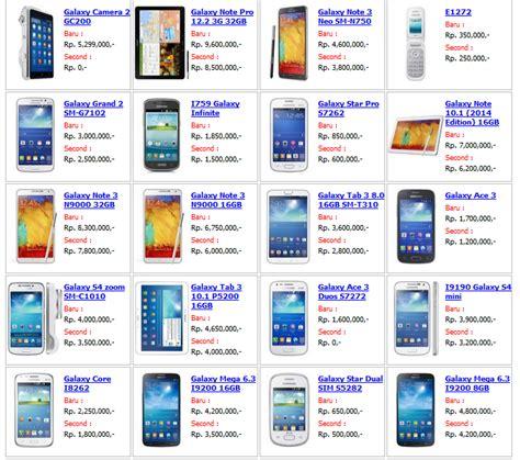 Daftar Harga Hp Android daftar harga samsung galaxy terbaru design bild