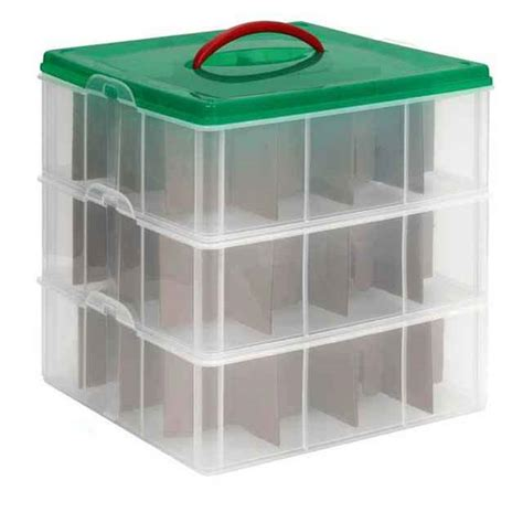snapware christmas ornament storage boxes ornaments