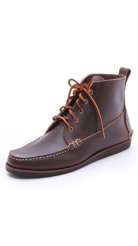 eastland s boots eastland seneca usa c moc boots in brown for lyst