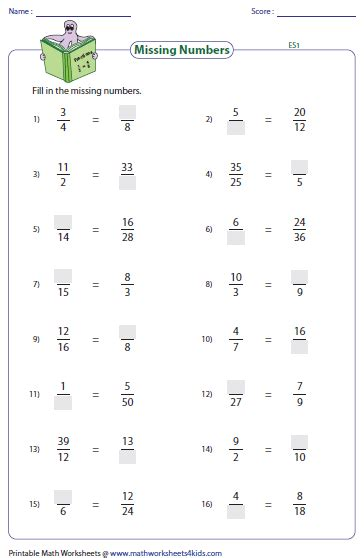 Finding Equivalent Fractions Worksheets by Equivalent Fraction Worksheets
