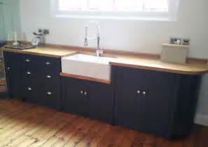 painted free standing kitchen belfast sink unit cupboards ebay