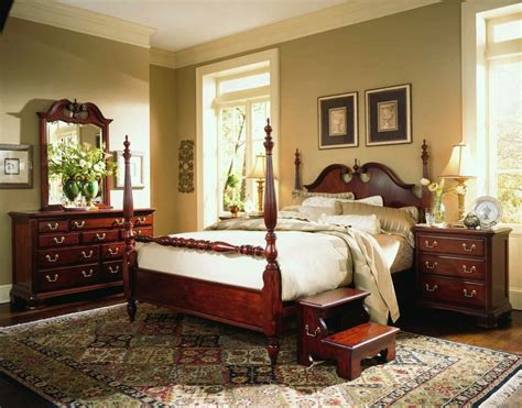 american drew cherry grove wood low poster bed 3 piece american drew cherry grove low poster bedroom set in cherry