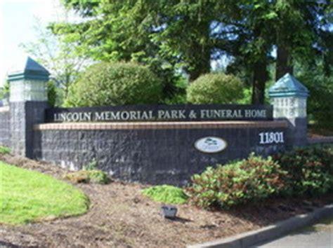 lincoln cemetery portland oregon lincoln memorial park in portland oregon find a grave