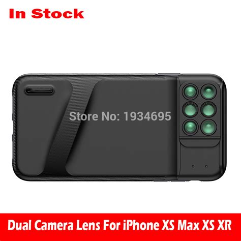 aliexpress buy new for iphone xs max dual lens 6 in 1 fisheye wide angle macro lens