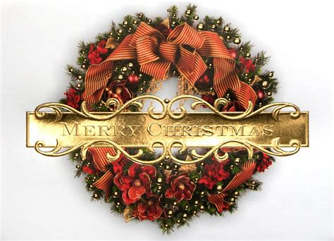 traditional merry christmas wreaths  cardsdirect