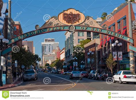 L District San Diego by Gasl District Sign In San Diego California Editorial Image Image 18232075