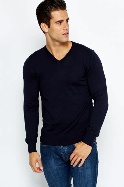 Neck Fit Sweater knitted slim fit v neck sweater just 163 5