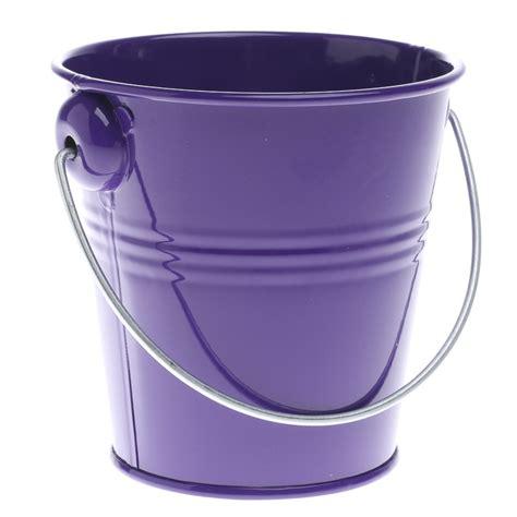 purple metal pail floral containers floral supplies