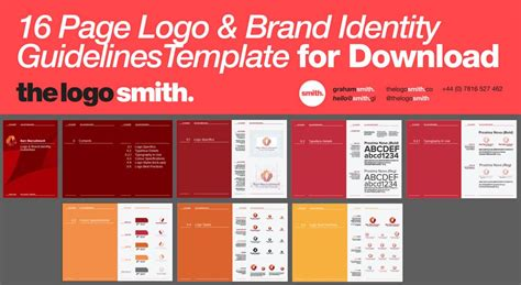 14 16 Page Logo Brand Identity Guidelines Template For Download Brand Identity Guidelines Template