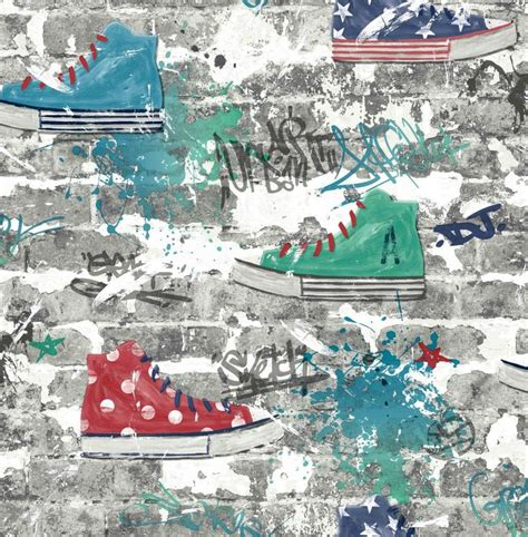 kidz urban street  albany red wallpaper fd