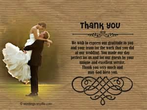 Thank You Letter After Wedding wedding cards and letter after ceremony thank you letter after wedding