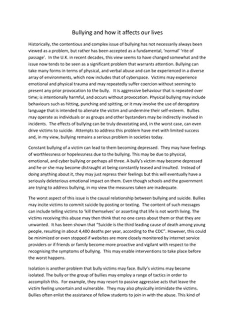 Bullying Essays by Being Is Tough Argumentative Essay On Bullying