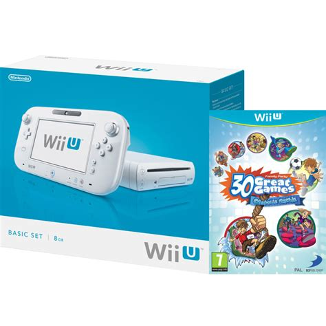 wii u white console wii u console 8gb basic pack white includes family