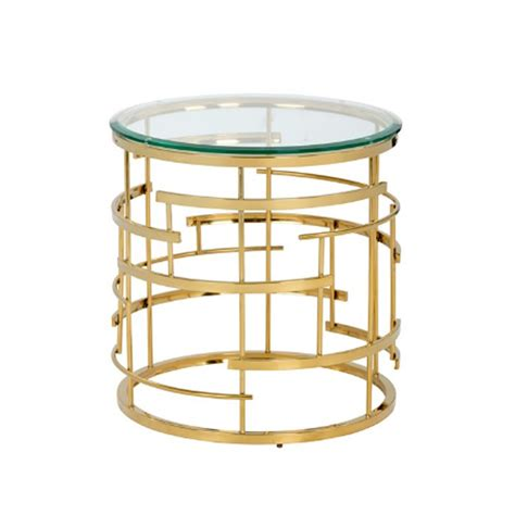 deco end table glass and golden frame deco end table horizon home