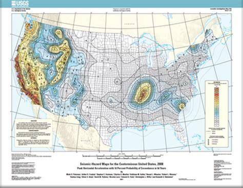 usgs earthquake map usa arizona geology seismic hazard maps for conterminous u s