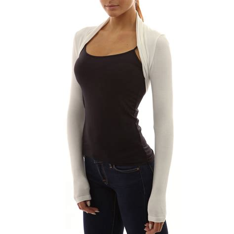 Top Five Cardigans by Womens Sleeve Bolero Shrug Knit Stretch Cropped