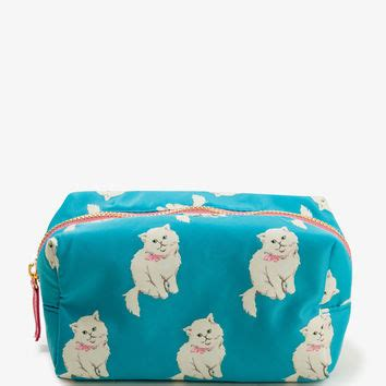 Cat Print Pouch cat print cosmetic pouch from forever 21 stuff