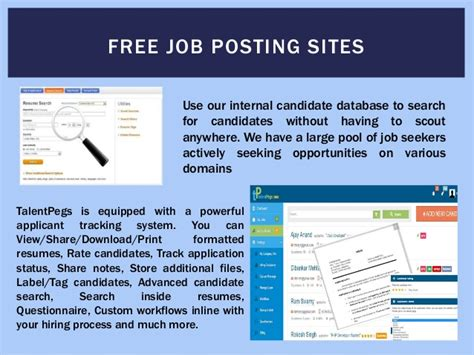 Free Job Portals To Search Resumes by Free Job Posting Sites For Employers
