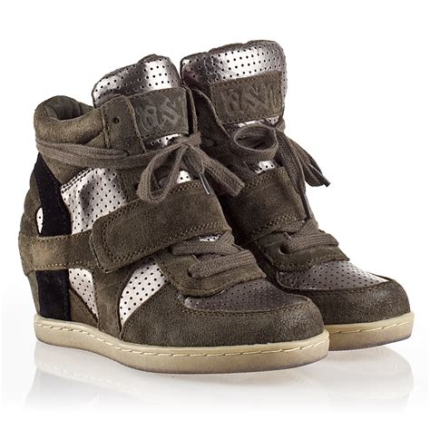 ash wedge sneaker ash nak bis sneaker white leather ash s sneakers