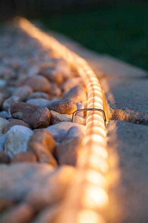 Landscape Rope Lighting 3 Borderline Genius Ways To Use Rope Light In Your Backyard Lights Etc