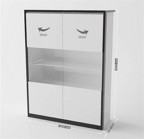 credenza vetrina moderna vetrina moderna avana credenza bianca mobile soggiorno