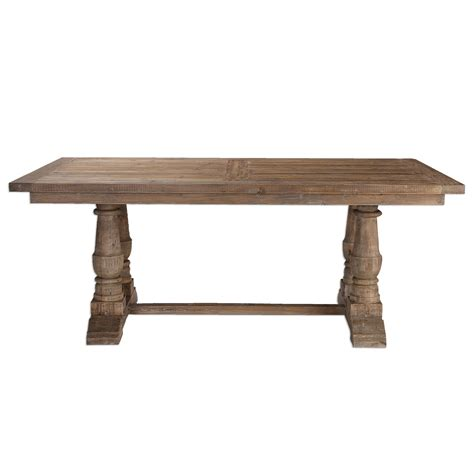 wood dining tables stratford stony gray wash salvaged wood dining table