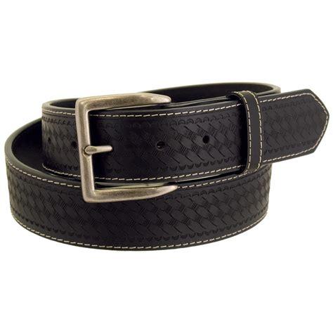 Wrangler Rugged Wear by Wrangler Rugged Wear S Basket Weave Leather Belt