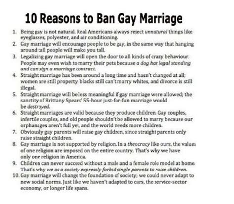 No gay marriage 10 arguments creationists