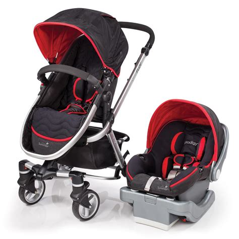 and black infant car seat and stroller summer fuze travel system with prodigy infant car seat jet