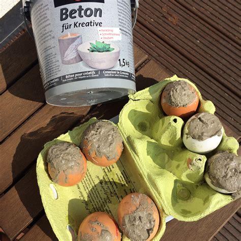 kreatives aus beton selber machen beton eier f 252 r ostern selber machen glutenfreie rezepte