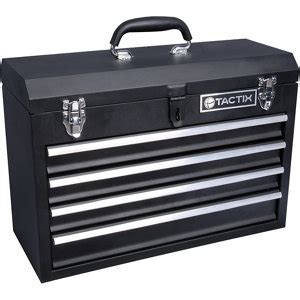 tactix  drawer steel portable tool chest     black  tractor supply