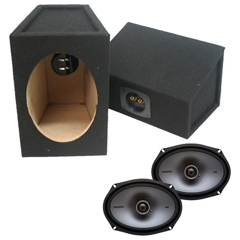 Speaker X9 kicker ksc69 6 quot x9 quot 4 ohm 2 way speaker w custom 6x9 quot sealed enclosure wedge box ppackage 113